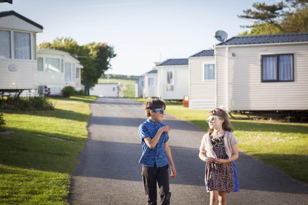 Children enjoying summer at Durdle Door Holiday Park