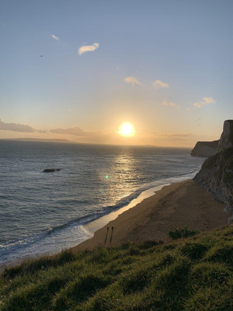 durdle door beach sunset