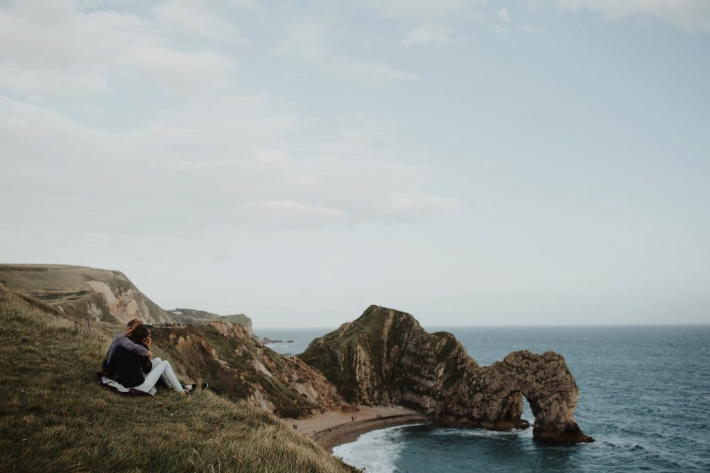 engagement shoot at Durdle Door