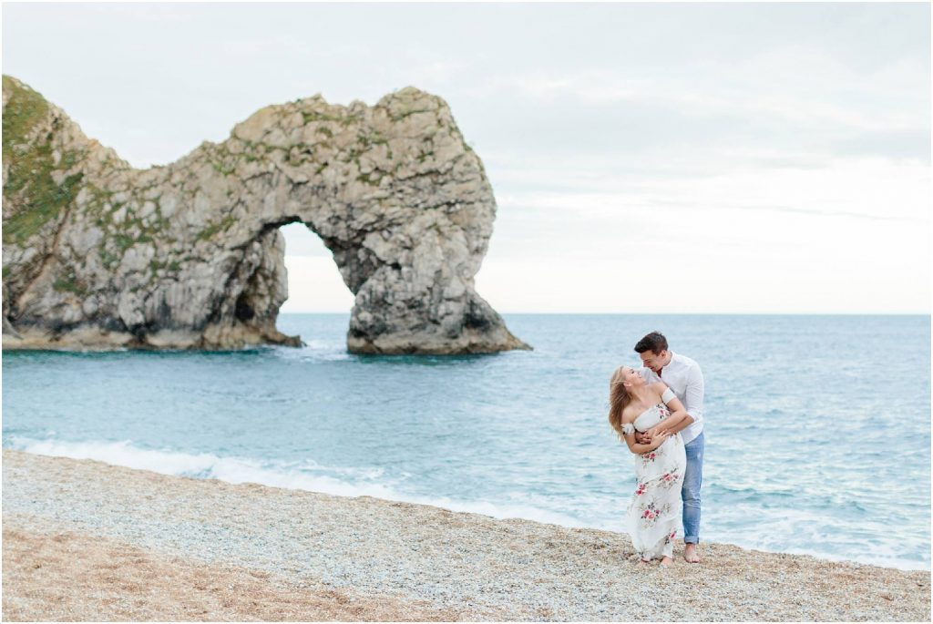 engagement photoshoots at Durdle Door