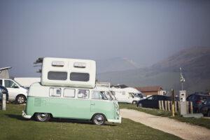campervan pitch at Durdle Door