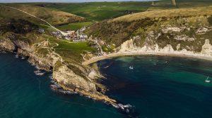 Lulworth Cove aerial shot